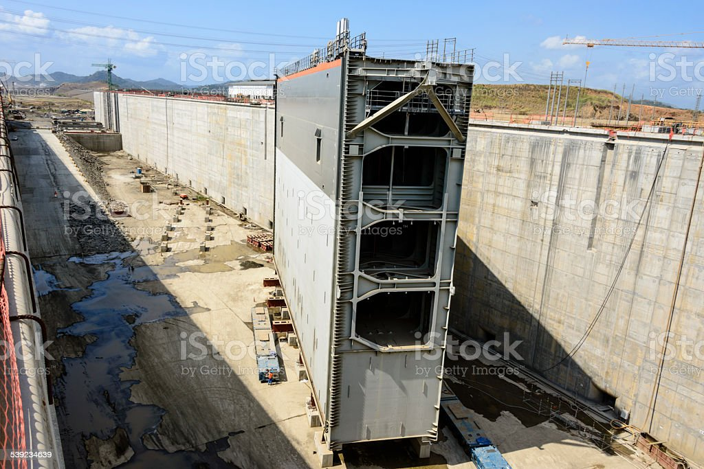 XXXL: New gate of the Panama Canal expansion project royalty-free stock photo
