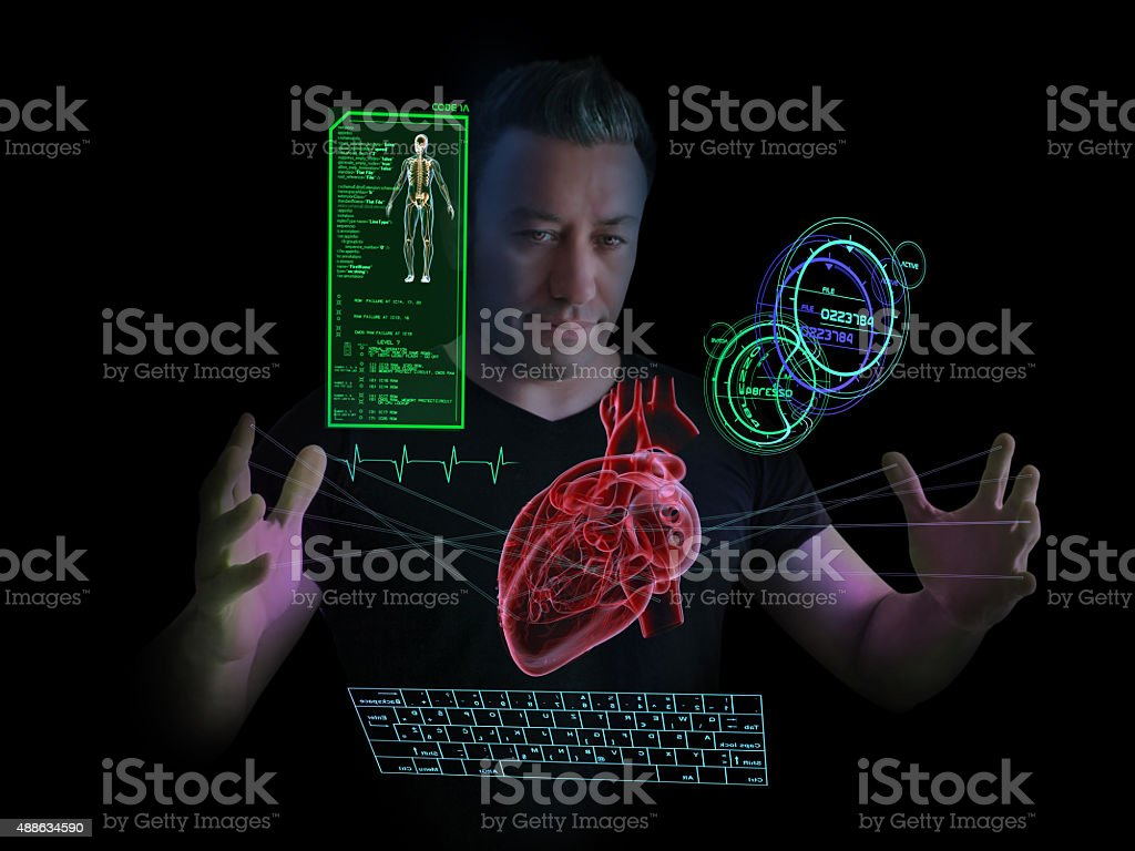 New Generation Cardiologist and Scientific Research stock photo