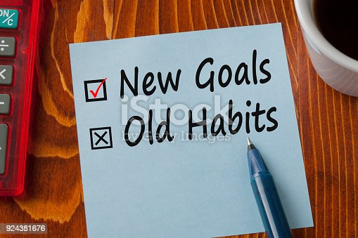 istock New Goals Old Habits Concept 924381676