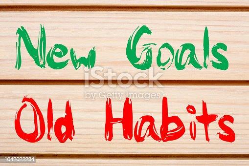 istock New Goals vs Old Habits 1042022234