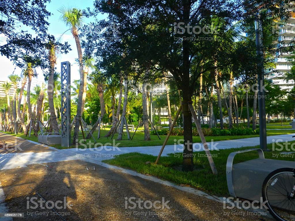 New Grove park stock photo