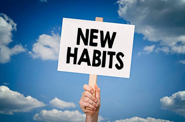 nuove abitudini - assuefazione foto e immagini stock