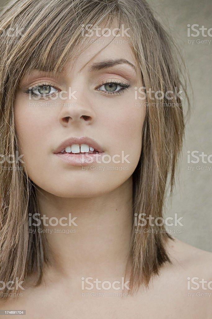 New haircut stock photo