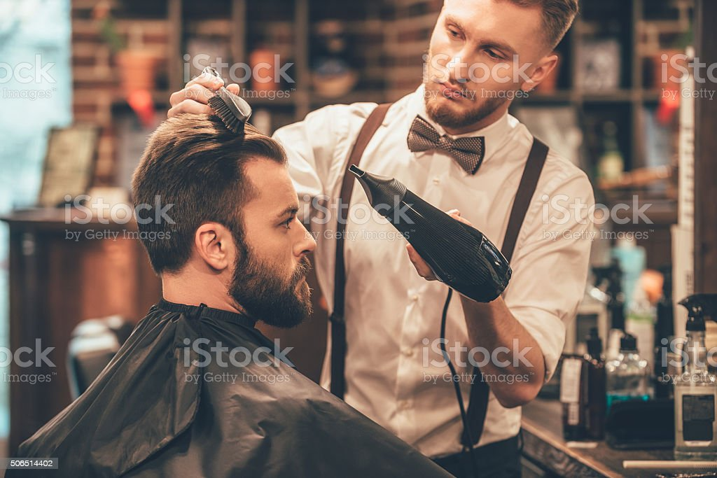 New hairstyle. stock photo