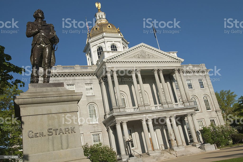 New Hampshire Capital Building stock photo