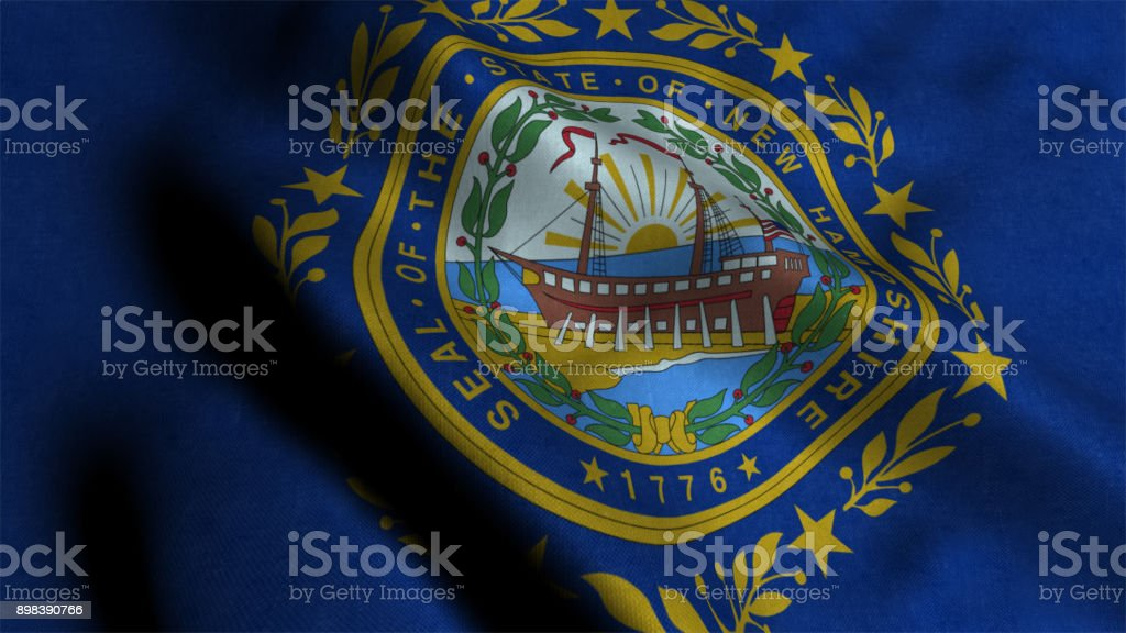 Bandeira do estado de New Hampshire - foto de acervo