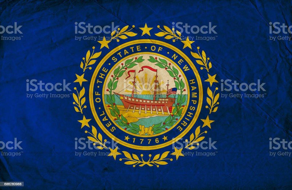 Bandeira de grunge do estado de New Hampshire - foto de acervo
