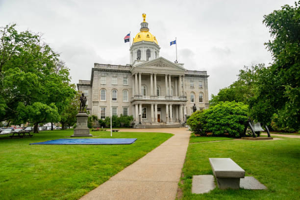 New Hampshire State House capitol building in Concord stock photo