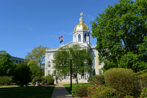 New Hampshire State House, NH, USA stock photo