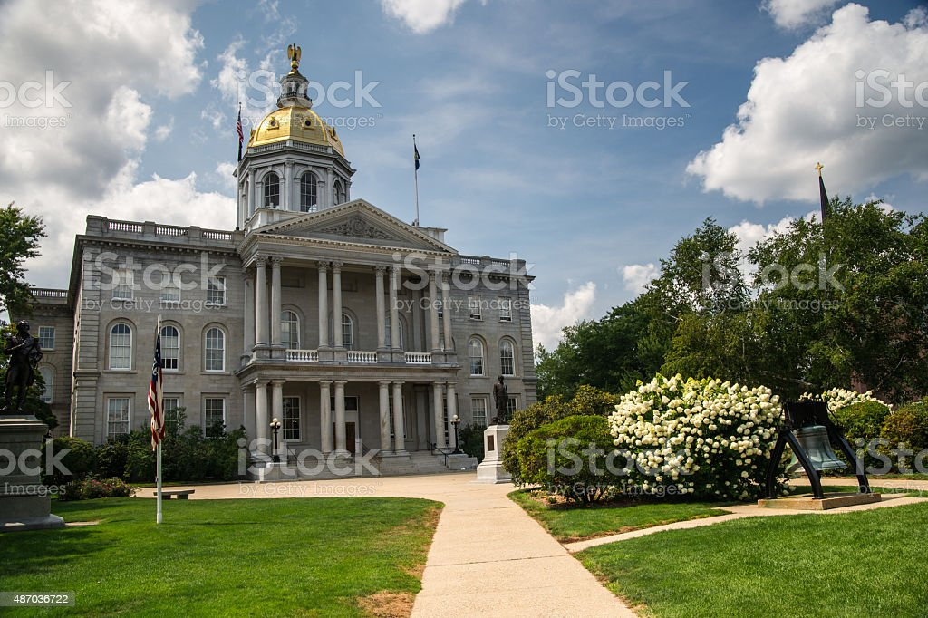 New Hampshire State House stock photo