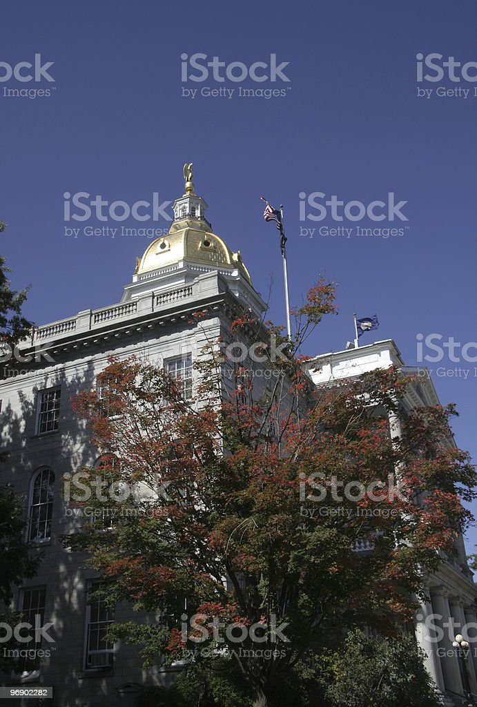 New Hampshire State House royalty-free stock photo