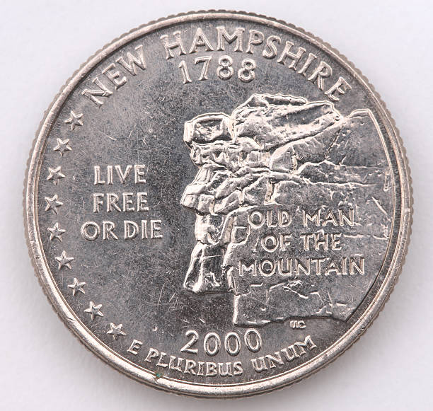 New Hampshire State Quarter stock photo