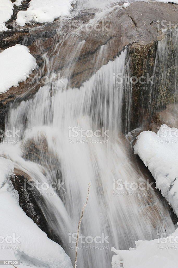 New Hampshire Winter #8 -Flume Waterfall royalty-free stock photo