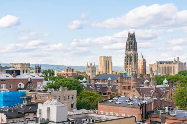 New Haven, Connecticut City Skyline stock photo