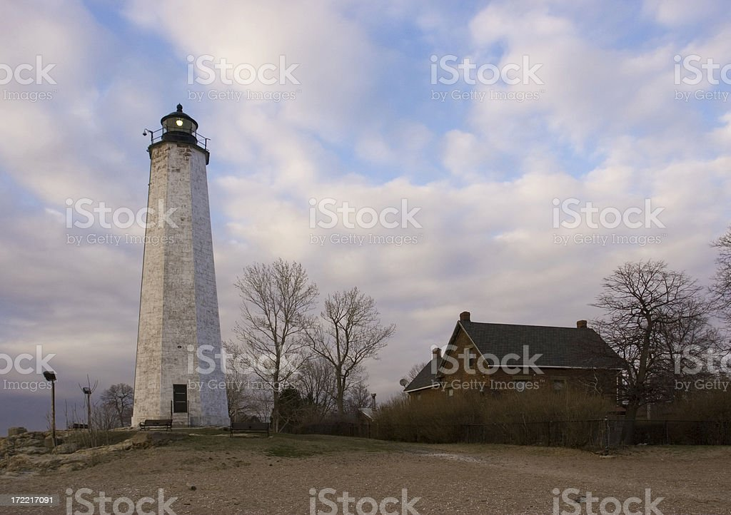 New Haven Light (Connecticut) royalty-free stock photo