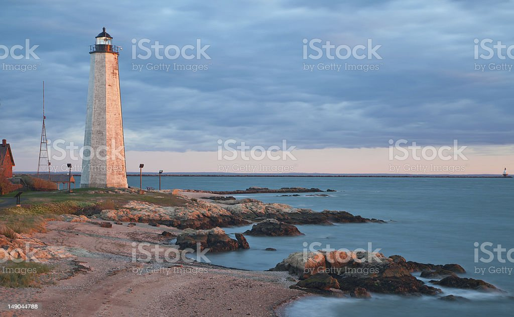 New Haven Lighthouse stock photo