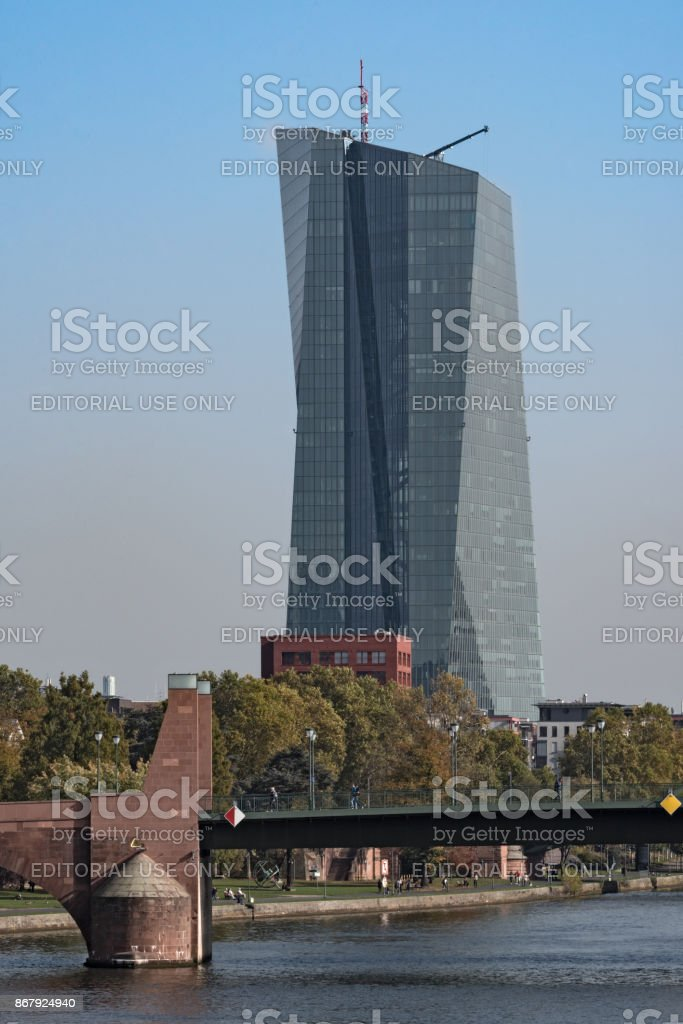 New headquarter of the European Central Bank ECB in Frankfurt, Germany stock photo