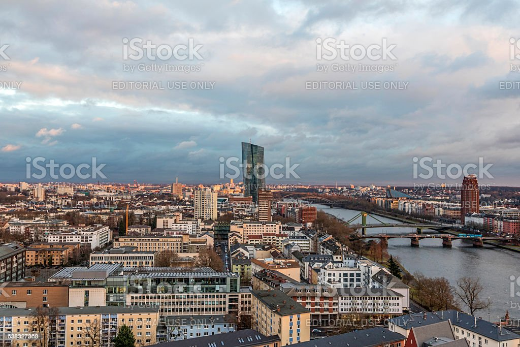 New headquarters of the European Central Bank or ECB. Frankfurt stock photo