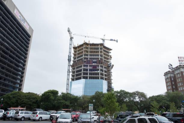 New Highrise Construction San Antonio stock photo