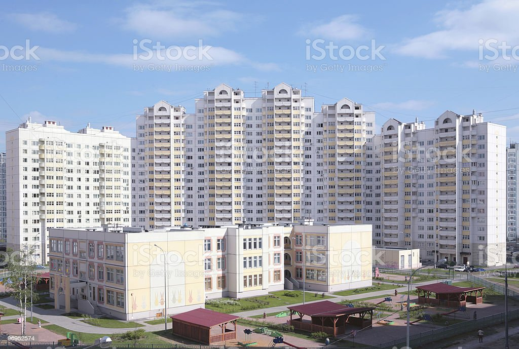 new high-rise dwelling, Russia, Moscow royalty-free stock photo