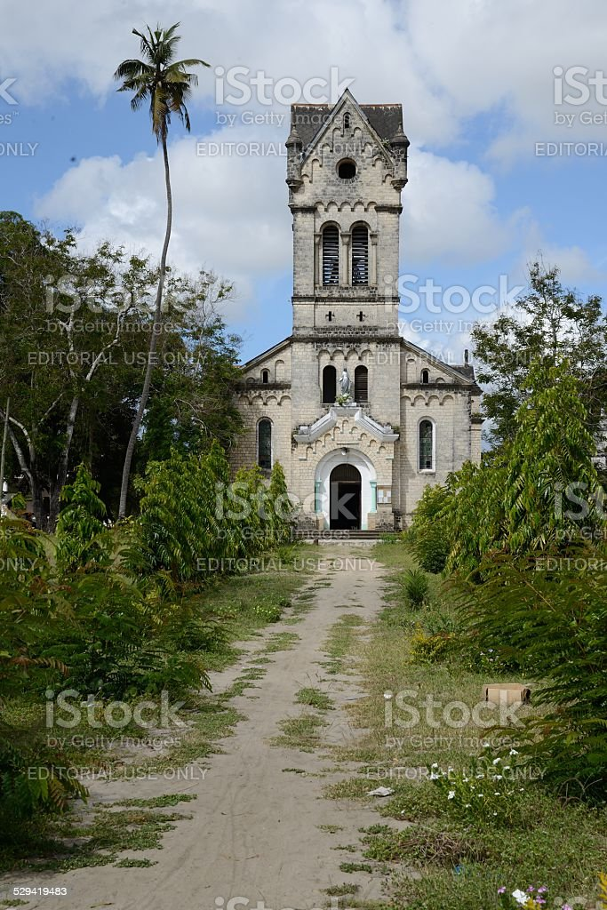 New Holy Ghost Church in Bagamoyo stock photo