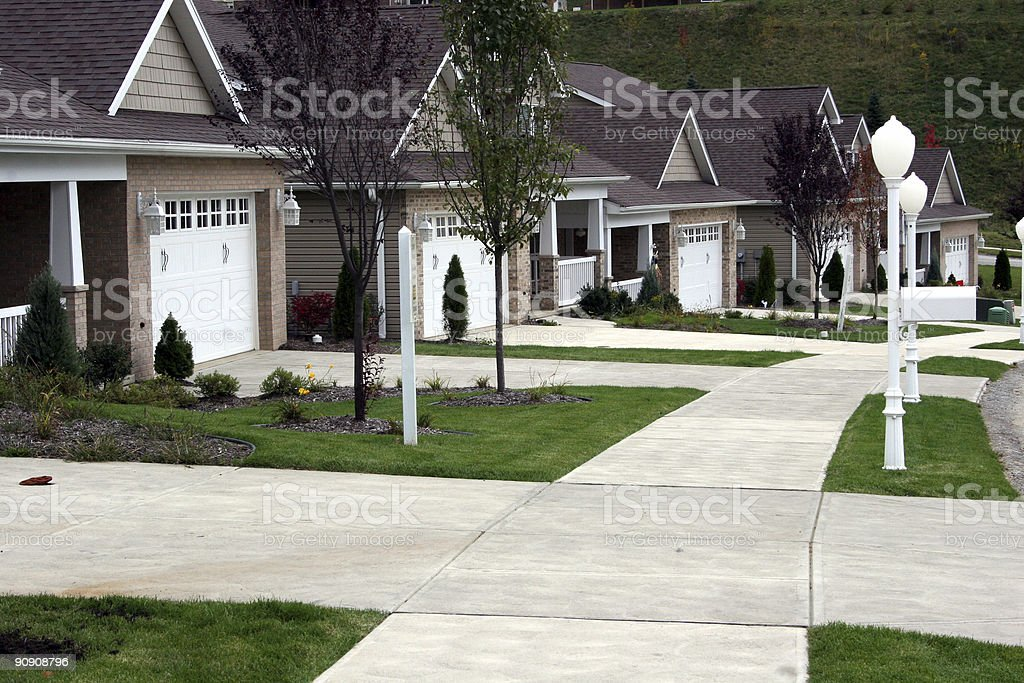 New Home - Carriage Houses stock photo