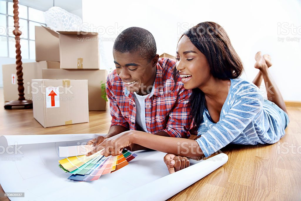 new home choices stock photo