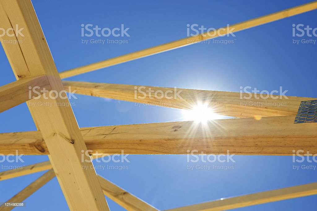 New home construction framing royalty-free stock photo