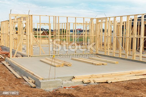 New Home Construction Framing Stock Photo Amp More Pictures