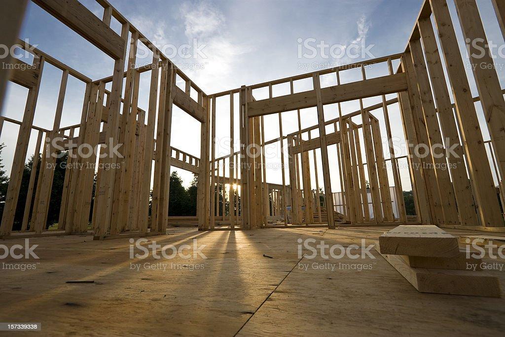 New Home Construction stock photo