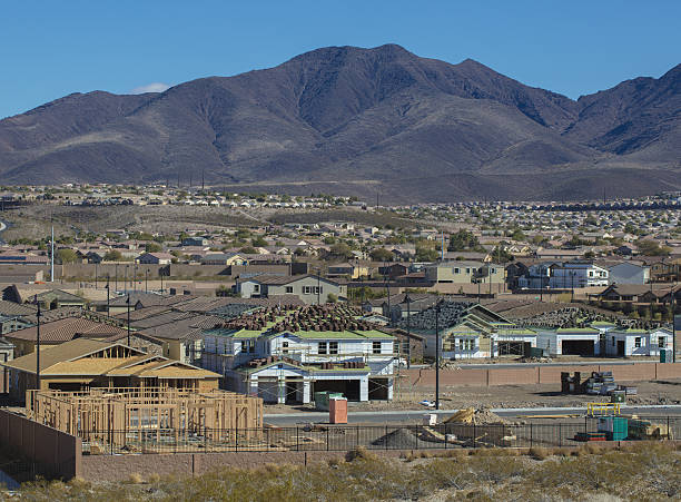new home construction - clark county nevada stock pictures, royalty-free photos & images
