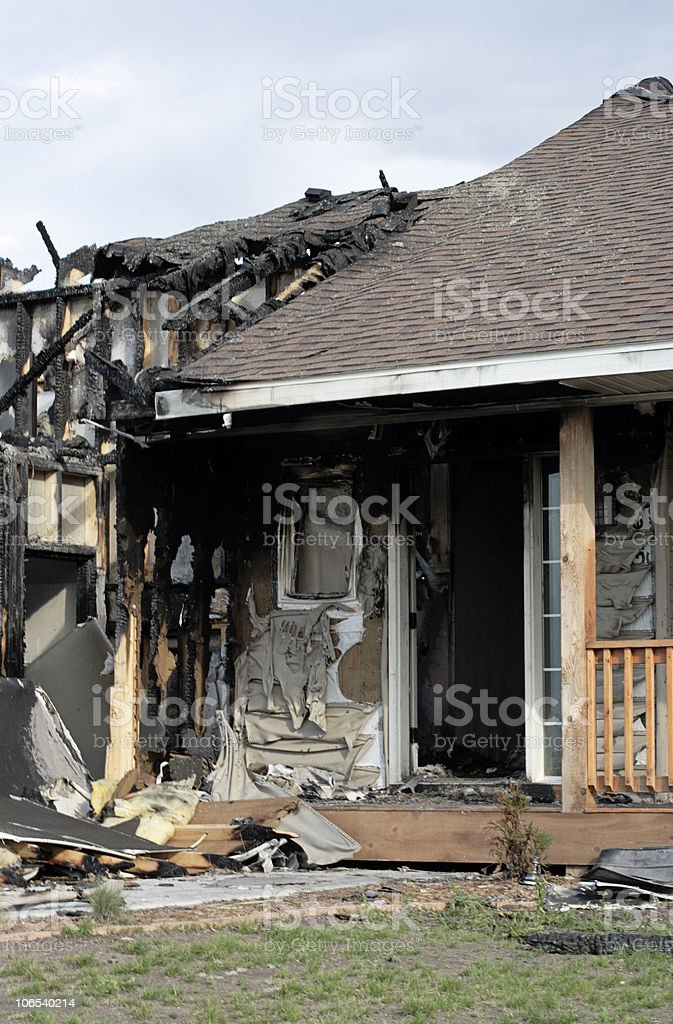 New home disaster royalty-free stock photo