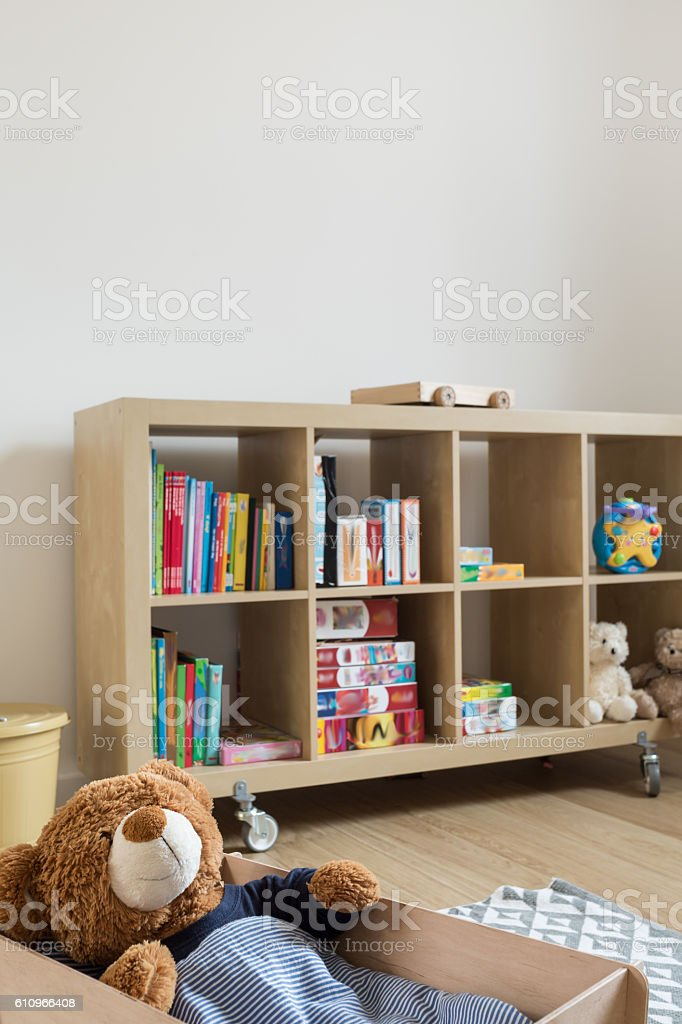 New home for beloved teddy bar stock photo