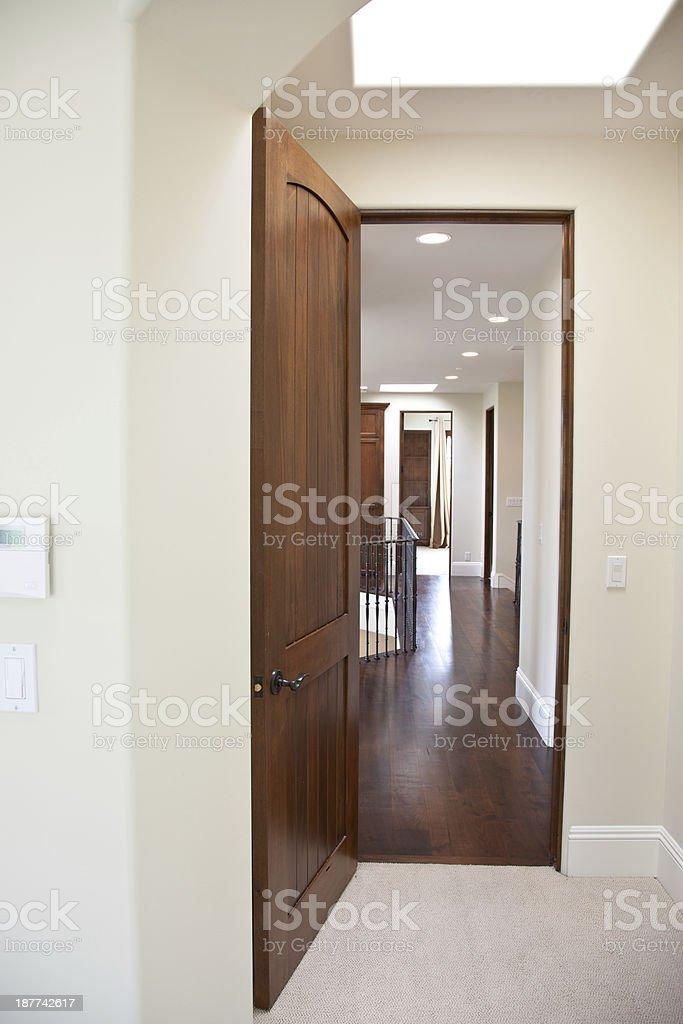 New Home Hallway Interior stock photo