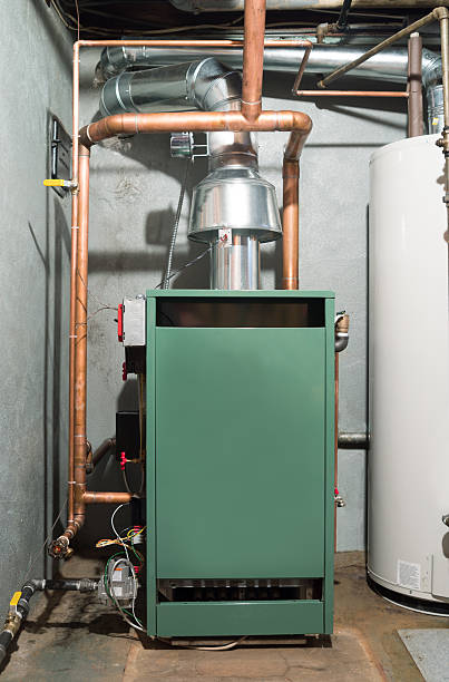 new home heating system - furnace stock photos and pictures