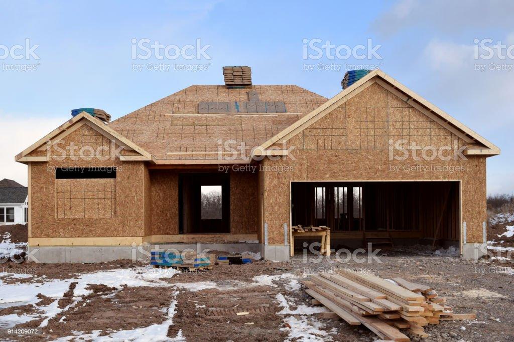 Fotografía de Construcción De Casa Nueva Estructura Madera ...