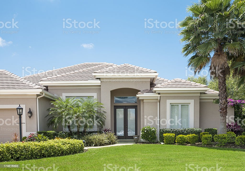 New Home in Florida royalty-free stock photo