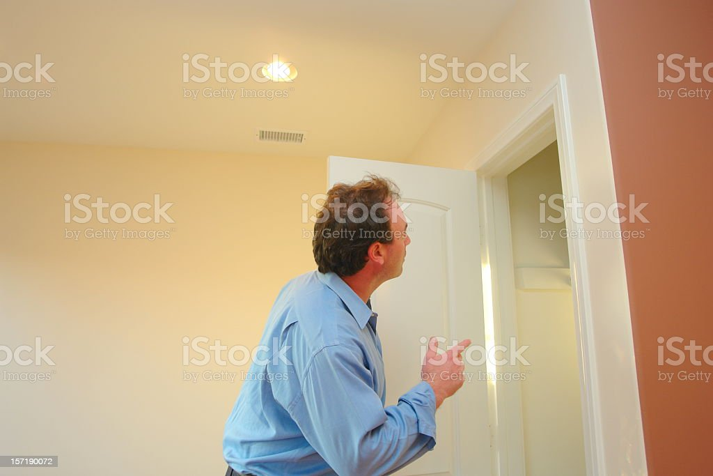 New Home Inspection royalty-free stock photo