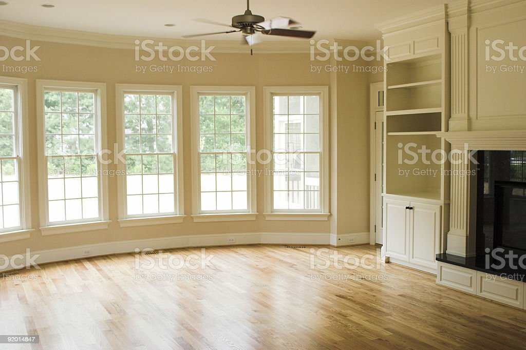 New Home - Living Room royalty-free stock photo