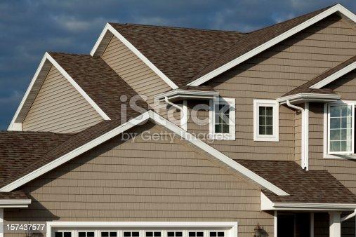 istock New Home, Vinyl Siding, Architectural Asphalt Shingle Roof, Real Estate 157437577