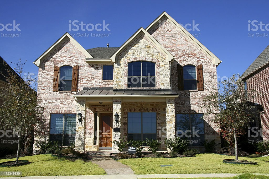 New Home with Trees stock photo