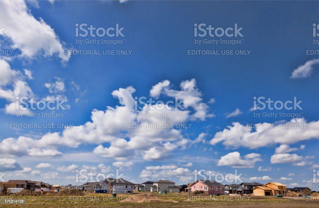 New Homes Being Built in Saskatoon Neighbourhood royalty-free stock photo