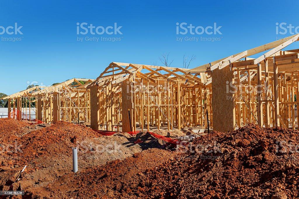 Nouvelle construction de maisons photo libre de droits