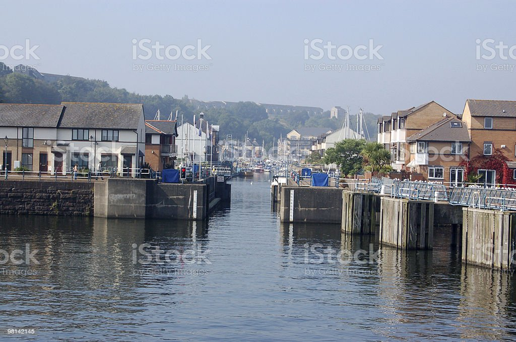 New homes, Cardiff Bay royalty-free stock photo