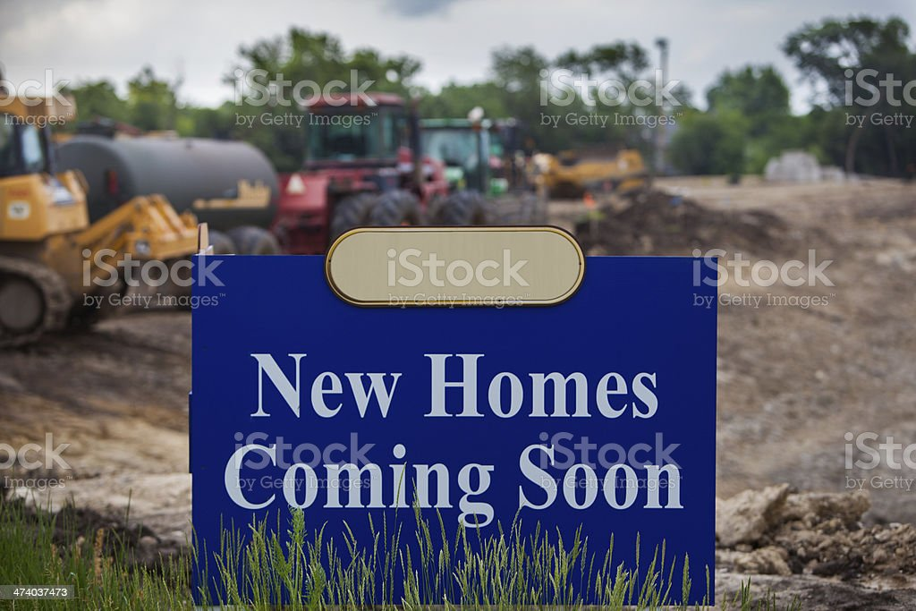new homes coming soon horz centered royalty-free stock photo