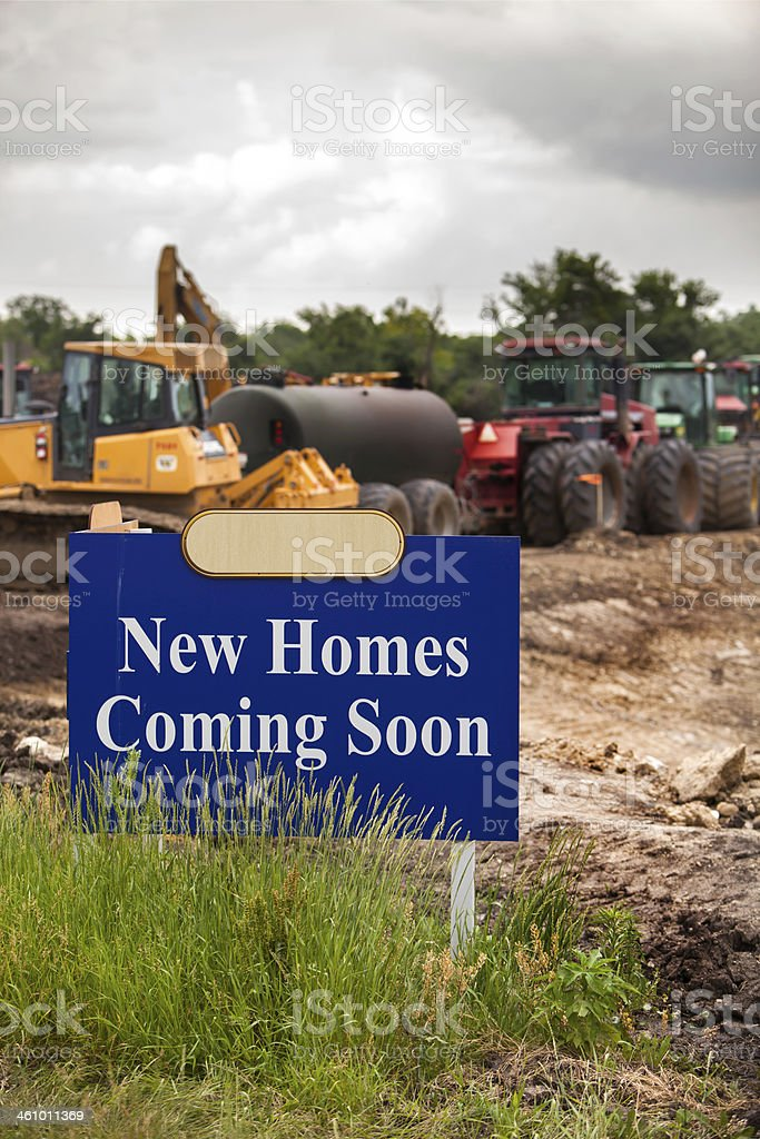 new homes coming soon vert i royalty-free stock photo