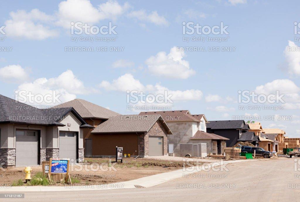 New Homes in Saskatoon Neighbourhood royalty-free stock photo