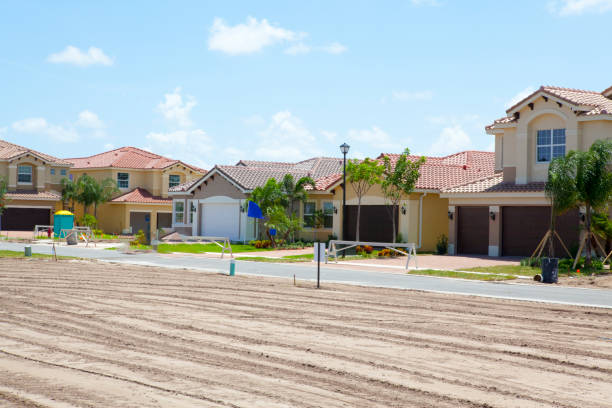 New homes in South florida stock photo