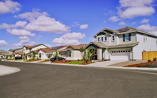 Recently built homes in Northern California