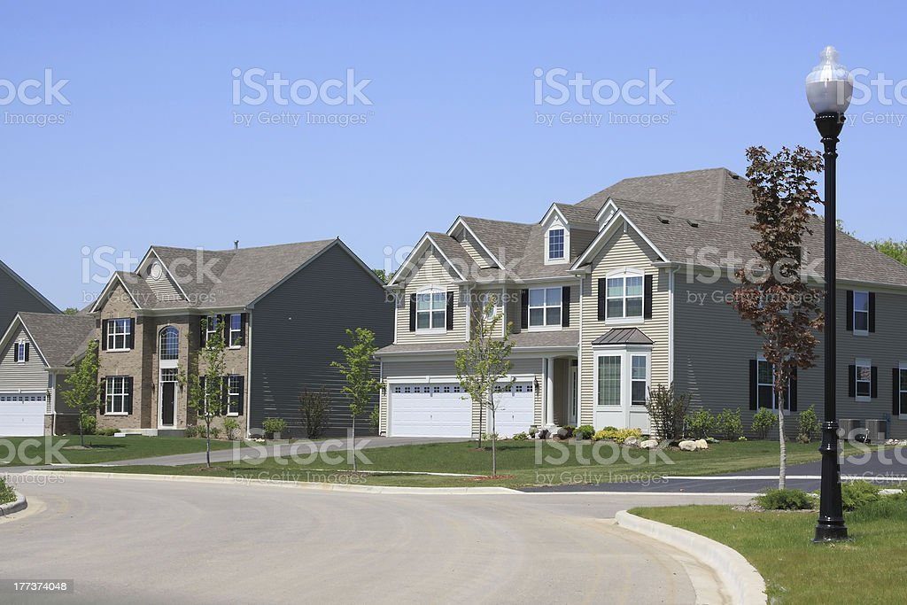 New homes in the suburbs royalty-free stock photo